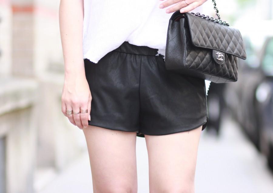 Short cuir Zara