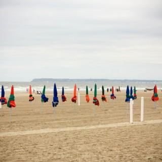 Deauville, la plage, le vent