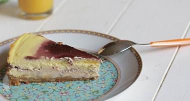 Cheesecake aux Petit Bruns, confiture de mûres