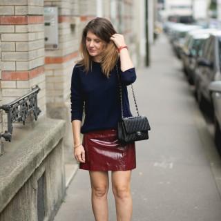 La jupe vinyl Zara