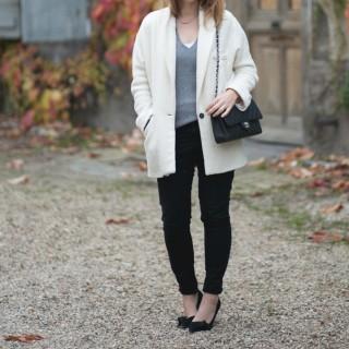 Le manteau blanc Zara