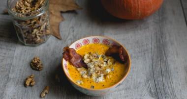 La soupe d'hiver parfaite : butternut, gorgonzola, bacon et noix