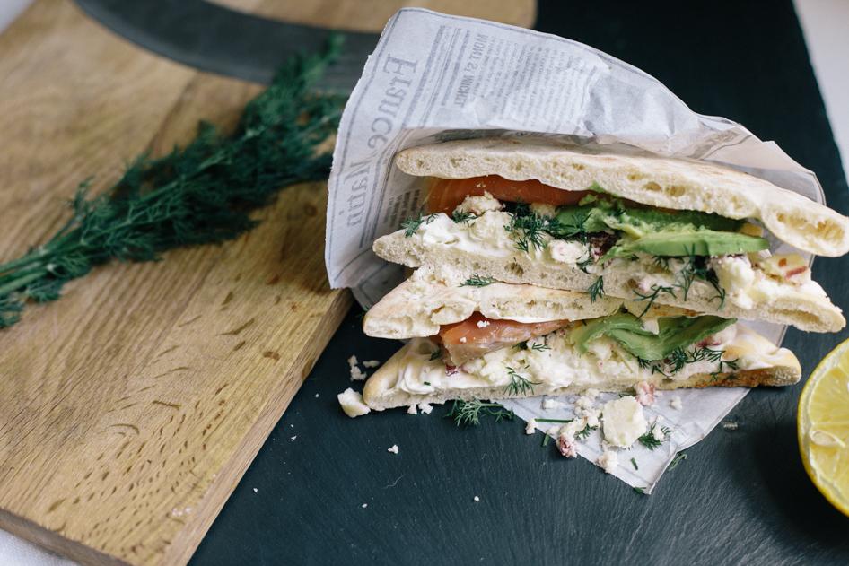 1 sanwich avocat saumon