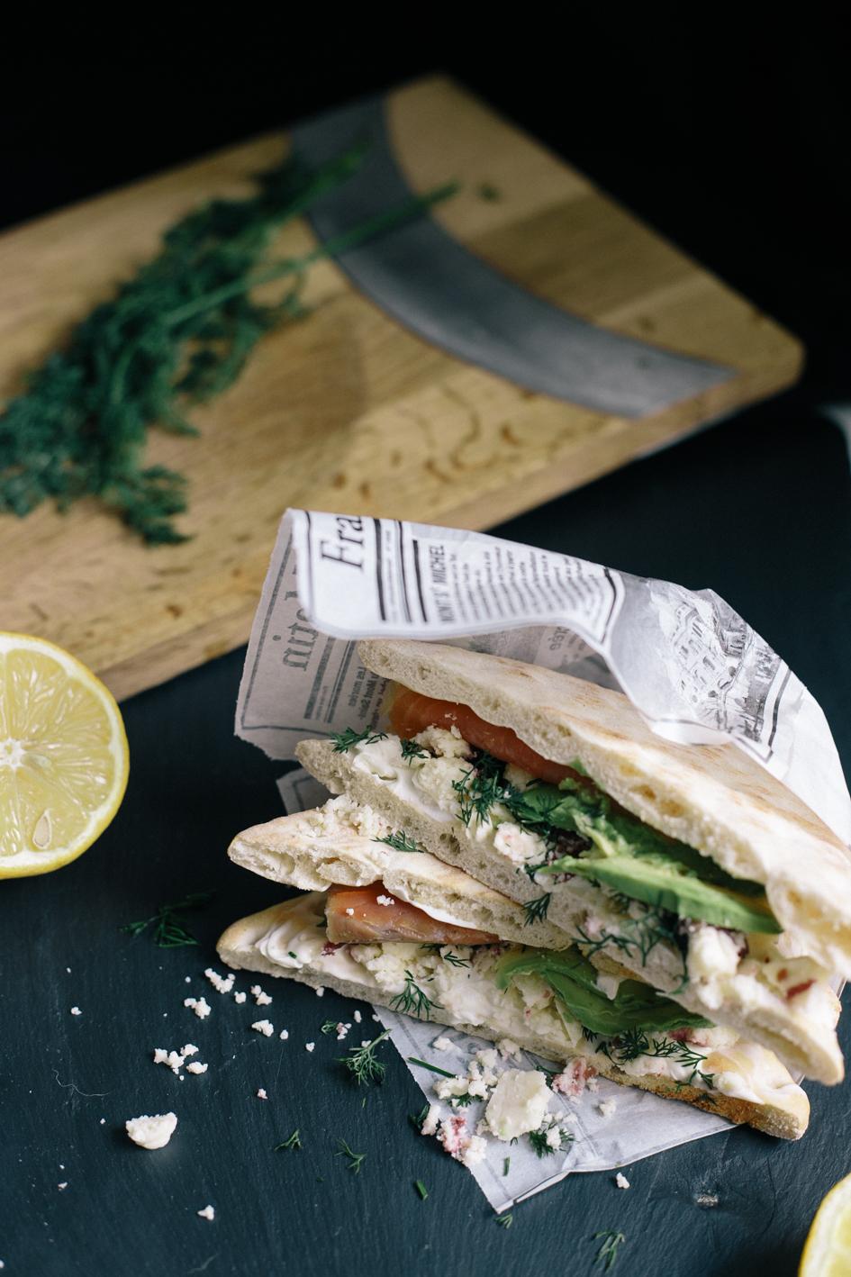 2 sandwich avocat saumon