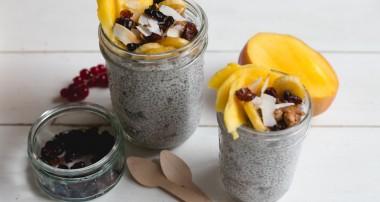 Pudding graines de Chia et noix de coco (vegan, sans gluten)