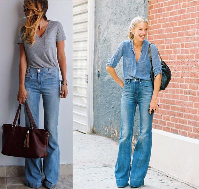 jean bleu flare
