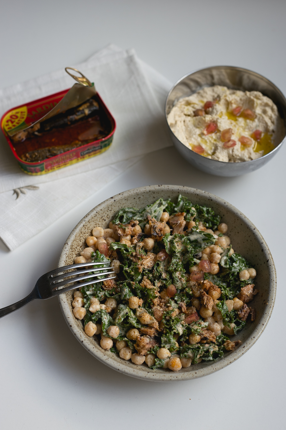 salade kale pois chiche