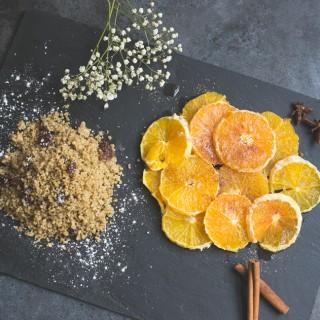 Salade d'oranges et sa semoule aux épices
