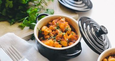 Curry haricots blancs, tomates et carottes au cumin